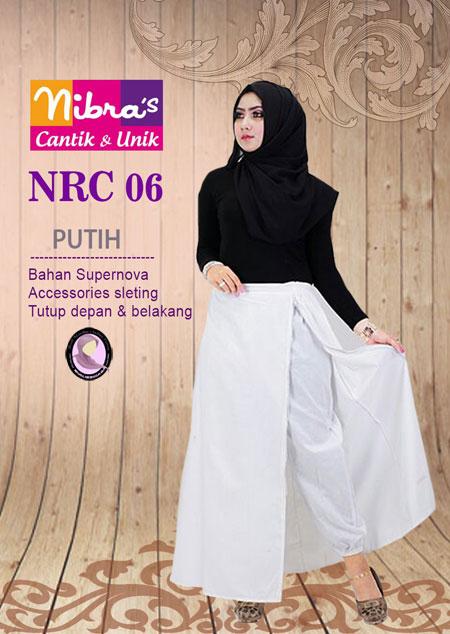 Nibras NRC 06 Putih Rok Dewasa