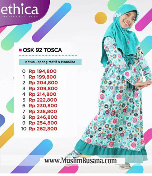 Ethica OSK 92 Tosca - Ethica Kids Gamis Anak