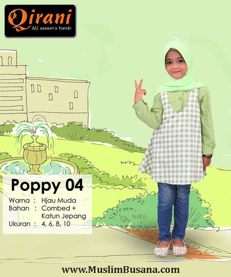 Qirani Kids Poppy 04 Atasan Anak