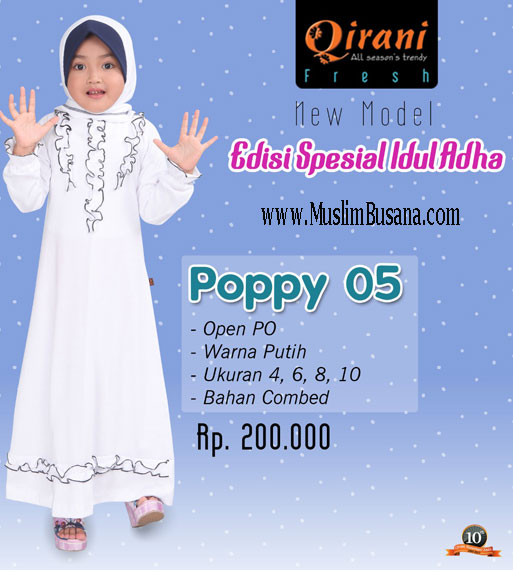 Qirani Kids Poppy 05 Atasan Anak