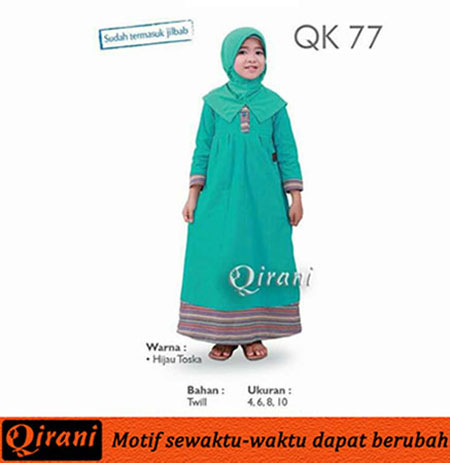 Qirani Model QK 77 Gamis Anak