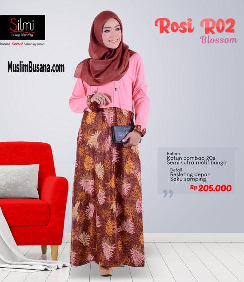 Silmi Rosi R02 Blossom - Silmi Dewasa Gamis Dewasa