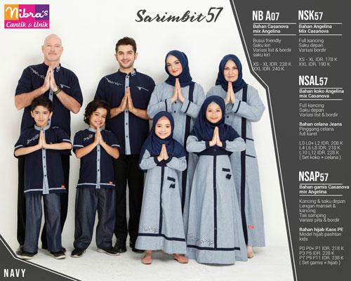 Nibras Sarimbit 57 Navy Sarimbit