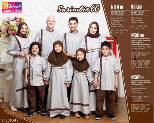 Nibras Sarimbit 60 Coklat - Nibras Sarimbit Sarimbit