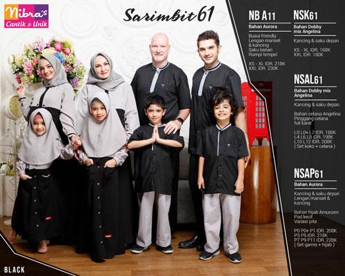 Nibras Sarimbit 61 Hitam Sarimbit
