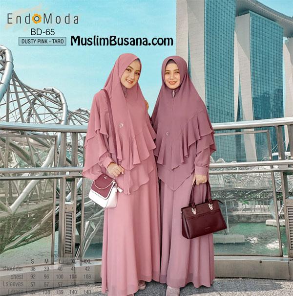 Endomoda Gamis BD 65 Dusty Pink Taro Gamis Dewasa