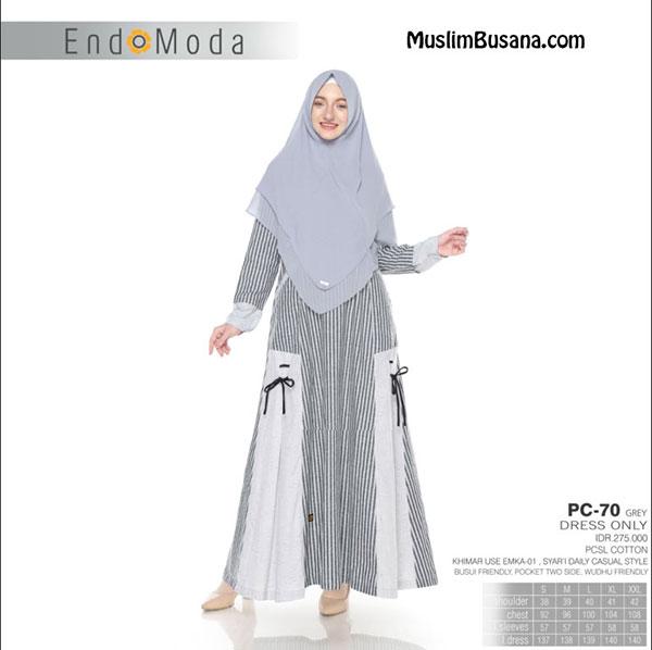 Endomoda Gamis PC 70 Grey Gamis Dewasa