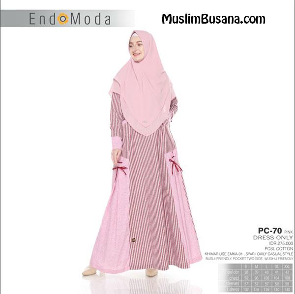 Endomoda Gamis PC 70 Pink Gamis Dewasa