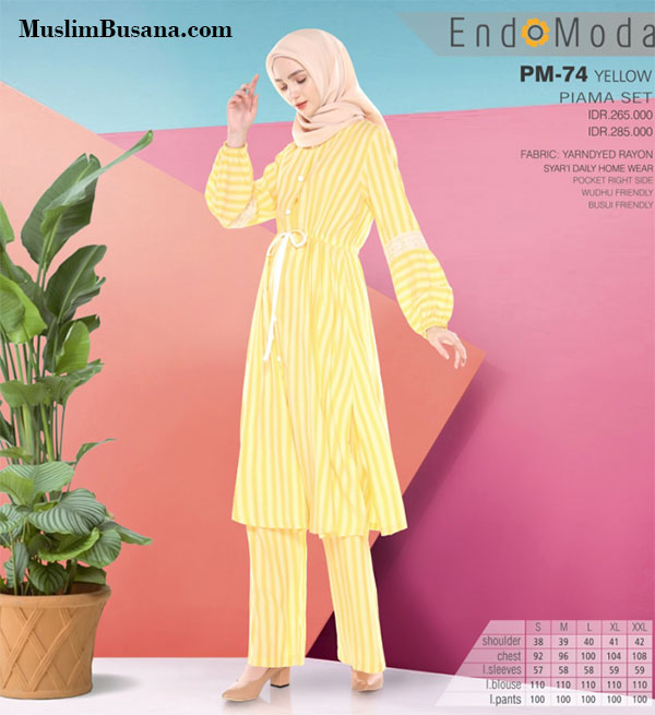 Endomoda Piama Home Wear PM 74 Gamis Dewasa