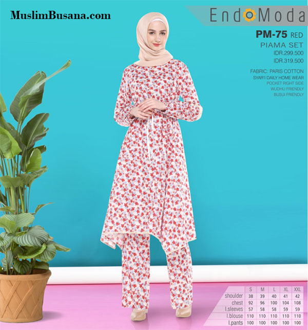 Endomoda Piama Home Wear PM 75 Gamis Dewasa