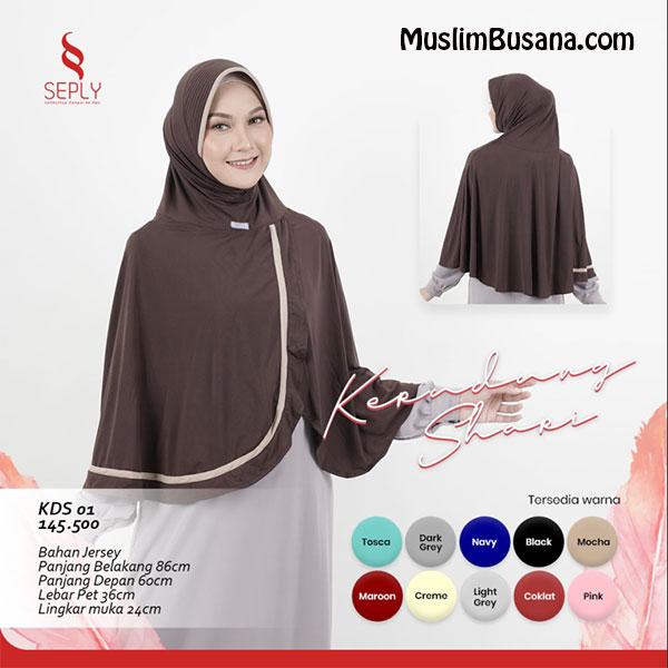 Seply Kerudung Syari KDS 01 Jilbab Dewasa