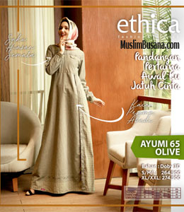Ethica Ayumi 65 Olive Gamis Dewasa