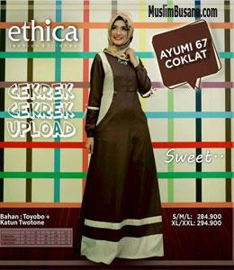 Ethica Ayumi 67 Coklat Gamis Dewasa
