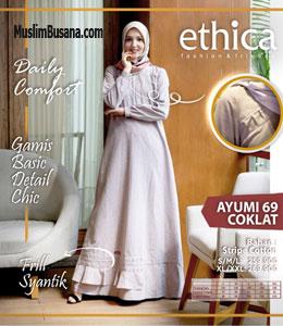 Ethica Ayumi 69 Coklat Gamis Dewasa
