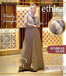 Ethica Ayumi 69 Olive Gamis Dewasa