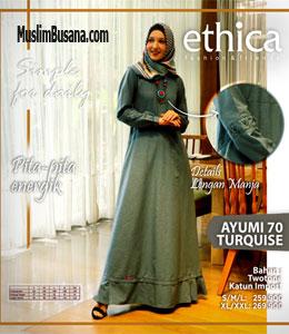 Ethica Ayumi 70 Turquise Gamis Dewasa