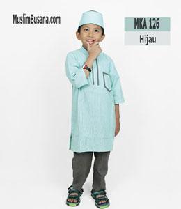 Fatih Fira MKA 126 Hijau Setelan Anak