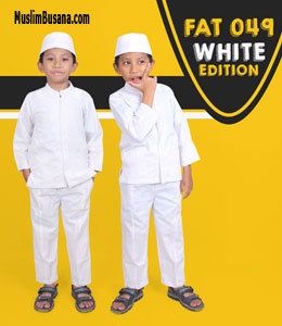 fATIH fIRRA fat 49 Putih Setelan Anak