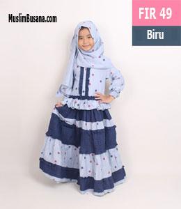 Fatih Firra FIR 49 Biru Gamis Anak