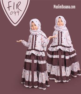 Fatih Firra FIR 49 Coklat Gamis Anak