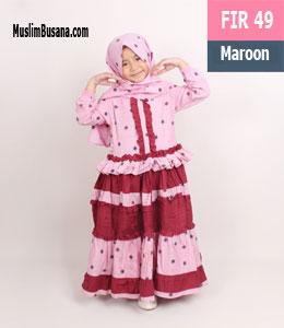 Fatih Firra FIR 49 Maroon Setelan Anak