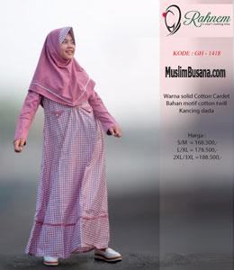 Rahnem GH 1418 Pink Gamis Anak