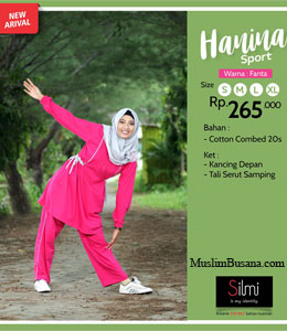 Silmi Hanina Pink Gamis Dewasa