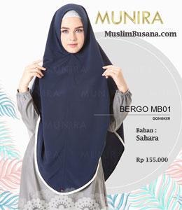 Munira Bergo MB 01 Dongker Jilbab Dewasa