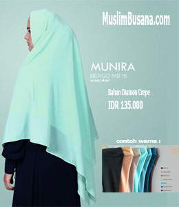 Munira MB 15 Hijau Mint Bergo