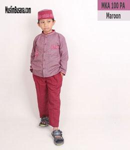 Fatih Firra MKA 100 PA Maroon Setelan Anak