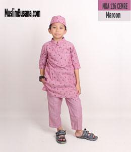 Fatih Firra MKA 126 CEMRE Maroon Setelan Anak