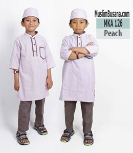 Fatih Firra MKA 126 Peach Setelan Anak