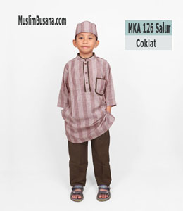 Fatih Firra MKA 126 Salur Coklat Koko Anak & Remaja