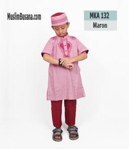 Fatih Firra MKA 132 Maroon Setelan Anak
