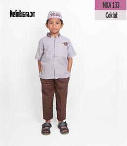 Fatih Firra MKA 133 Coklat Setelan Anak