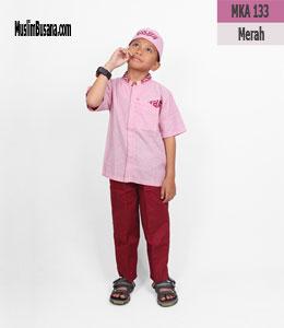 Fatih Firra MKA 133 Merah Setelan Anak