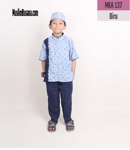 Fatih Firra MKA 137 Biru Setelan Anak
