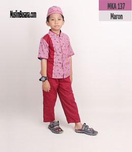 Fatih Firra MKA 137 Maroon Setelan Anak