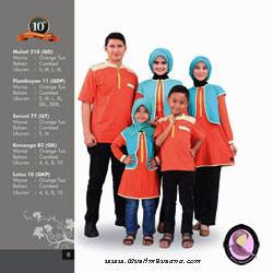 Qirani Sarimbit Melati 218 Orange Tua Gamis Dewasa