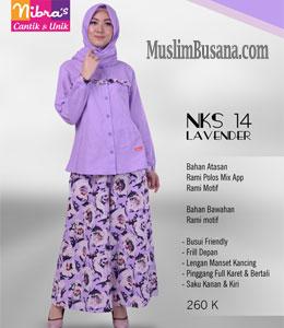 Nibras NKS 14 Lavender Setelan Dewasa