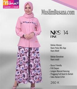 Nibras NKS 14 Pink Atasan Dewasa