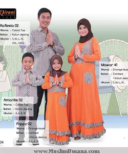 Qirani Sarimbit Mawar 41 Orange Gamis Dewasa