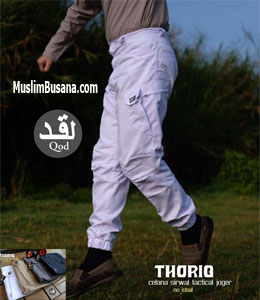 La Qod Sirwal Thoriq Putih Celana