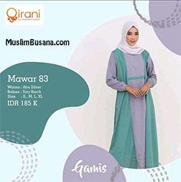 Qirani Gamis Mawar 83 Gamis Dewasa